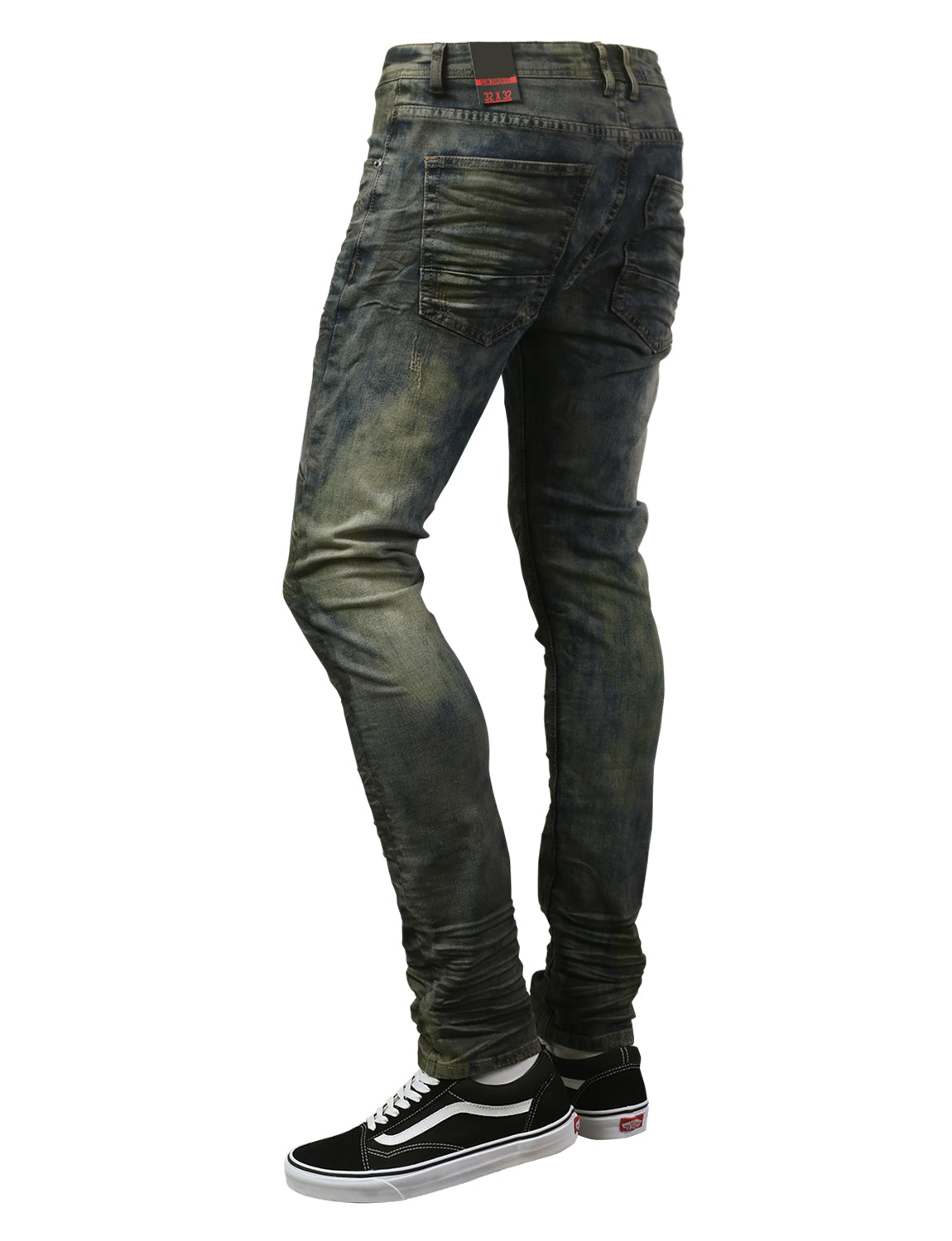 VINTAGE Basic Washed Denim Jeans - URBANCREWS