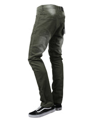 OLIVE Basic Color Moto Denim Jeans - URBANCREWS