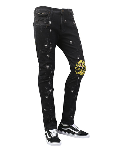 Gorilla Patched Graphic Slim Fit Denim Jeans