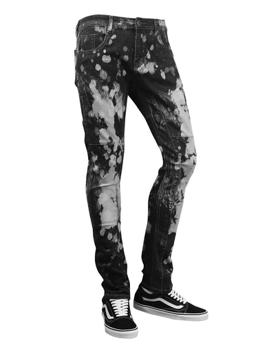 Spot Faded Slim Fit Denim Jeans