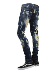 DKBLUE Spot Faded Denim Jeans - URBANCREWS