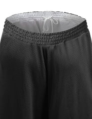 BLACK Reversible Mesh Athletic Basketball Shorts - URBANCREWS