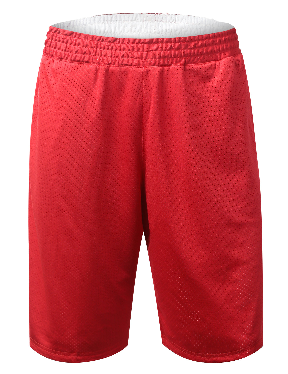 RED Reversible Mesh Athletic Basketball Shorts - URBANCREWS