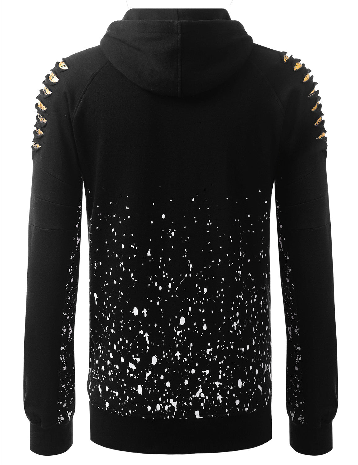 BLACKGOLD Bull Splatter Long-Sleeve Hoodie Jackets - URBANCREWS