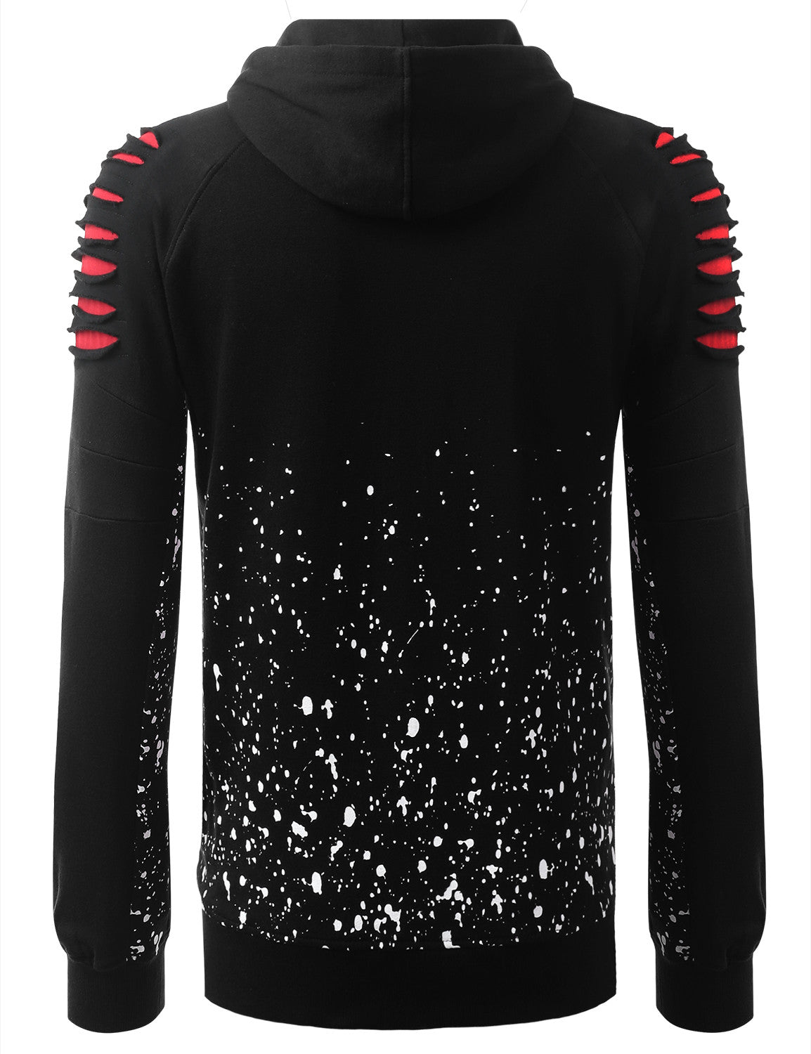 BLACKRED Bull Splatter Long-Sleeve Hoodie Jackets - URBANCREWS