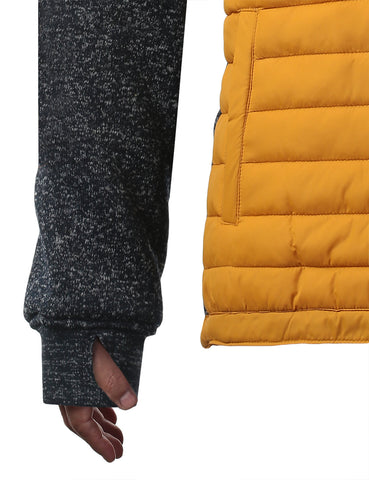 Quilted Multi Zipper Hoodie Jacket