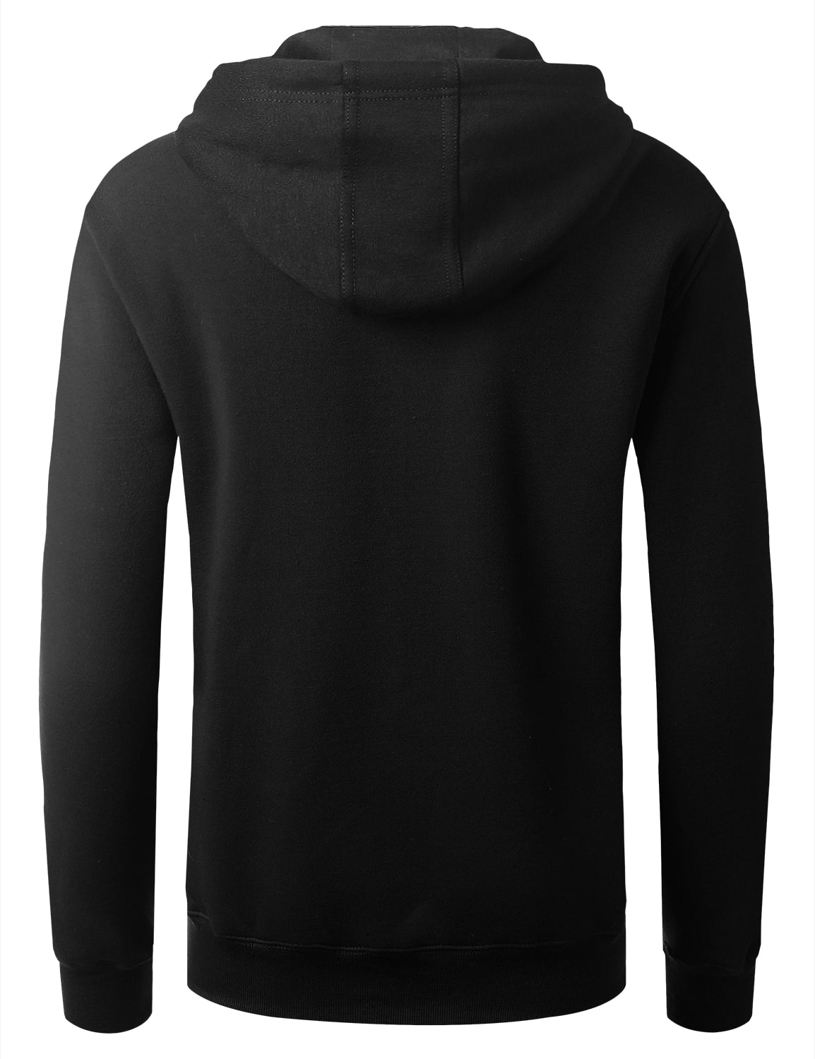 BULLBLACK Embossed Bull Graphic Fleece Pullover Hoodie - URBANCREWS