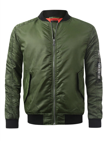 Basic Bomber Flight Jacket w/ Zippers