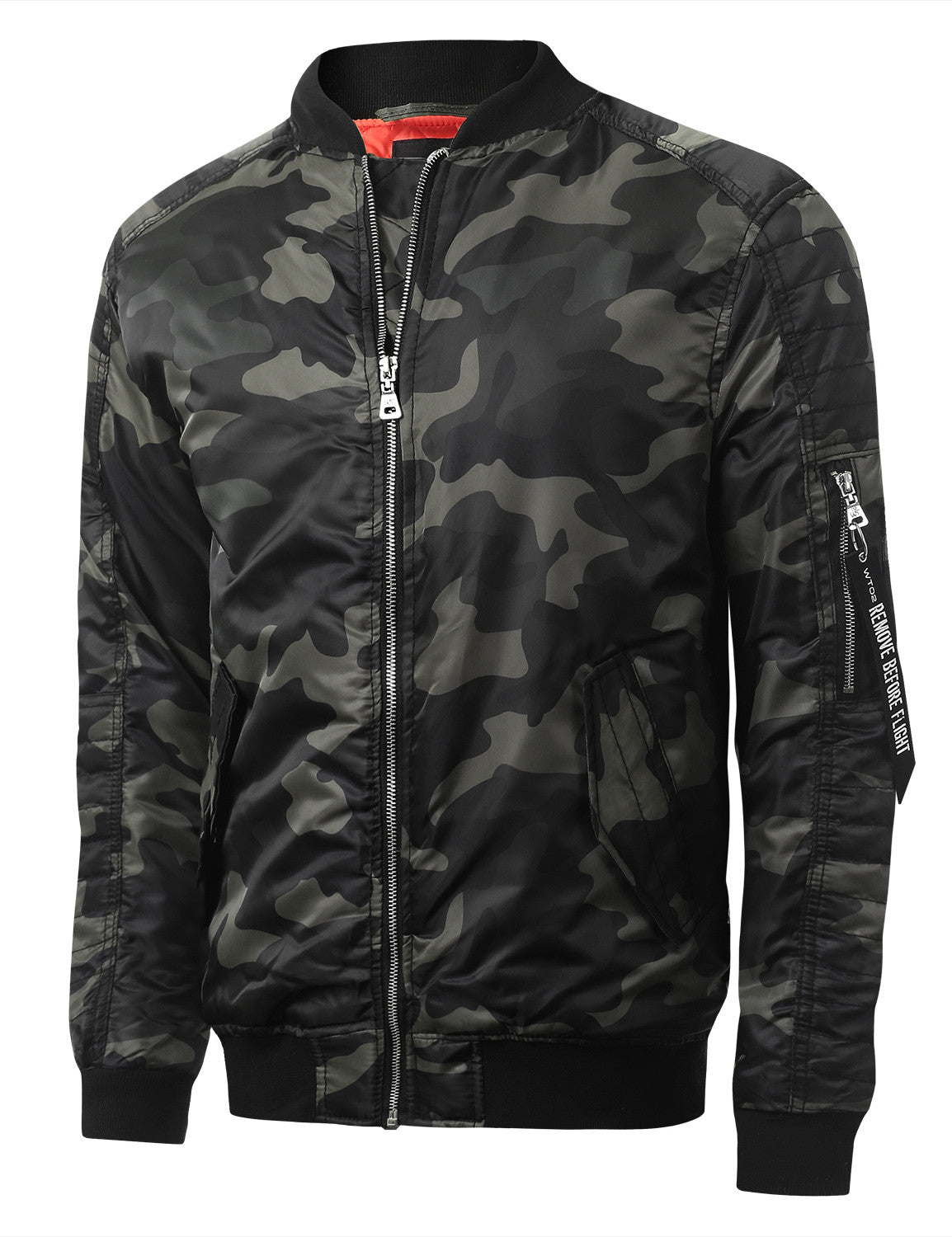 GRAYBLACK Camo Bomber Flight Jacket - URBANCREWS