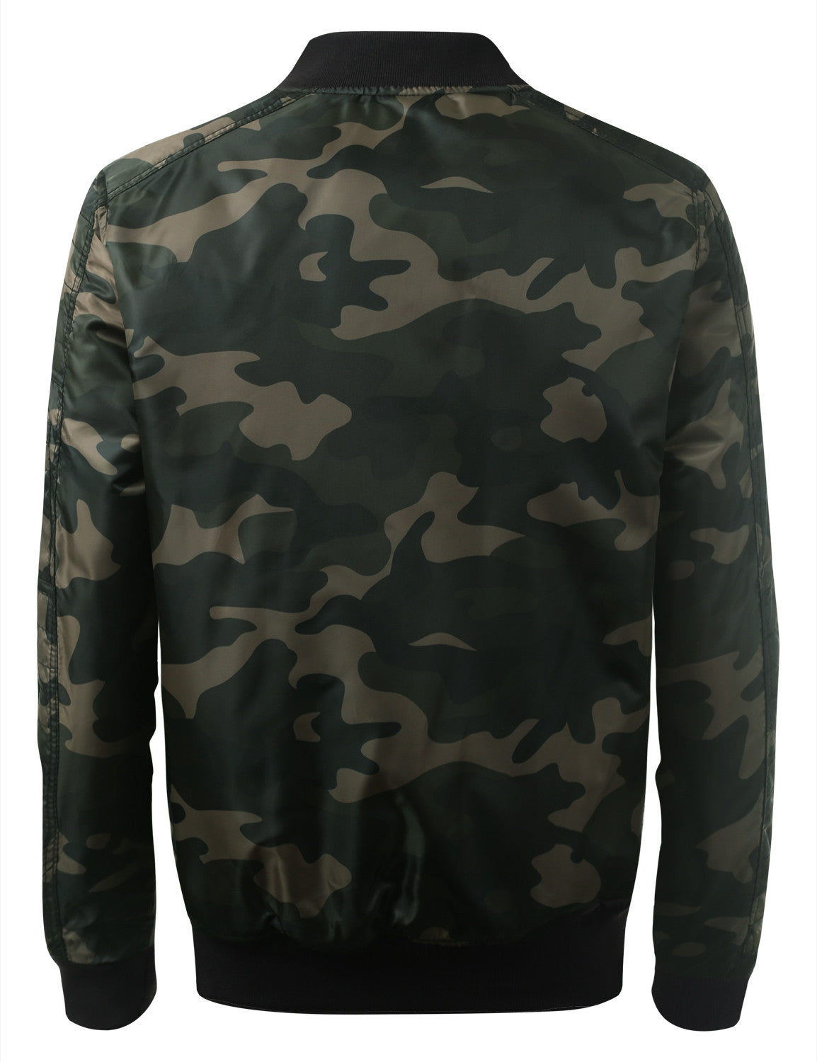 WOODLAND Camo Bomber Flight Jacket - URBANCREWS