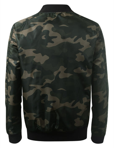 Camo Bomber Flight Jacket