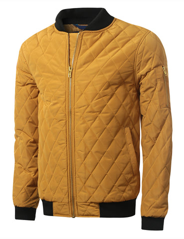 Quilted Bomber Flight Jacket