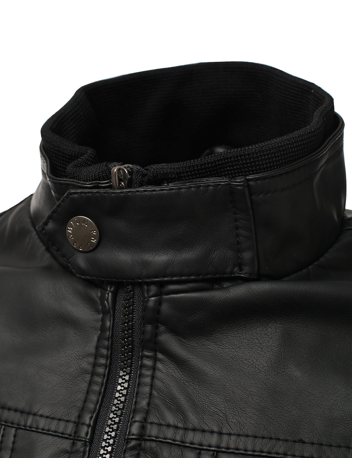 BLACK PU Leather Buckled Hooded Jacket - URBANCREWS