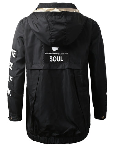 """LOST SOUL"" Applique Lightweight Jacket"