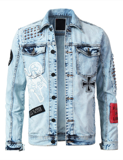 """FEAR"" Patched Denim Jacket"