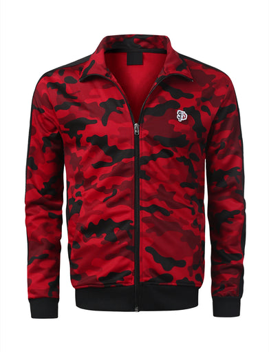Side Paneled Camo Track Jacket