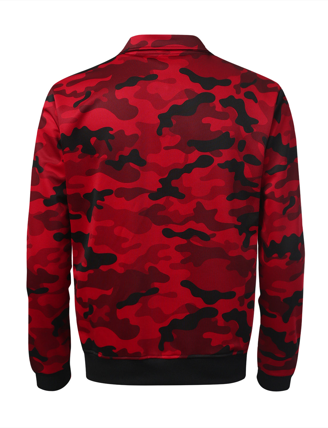 RED Side Paneled Camo Track Jacket - URBANCREWS