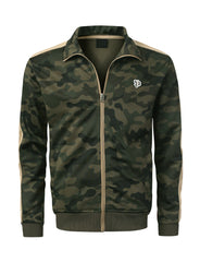 WOODLAND Side Paneled Camo Track Jacket - URBANCREWS