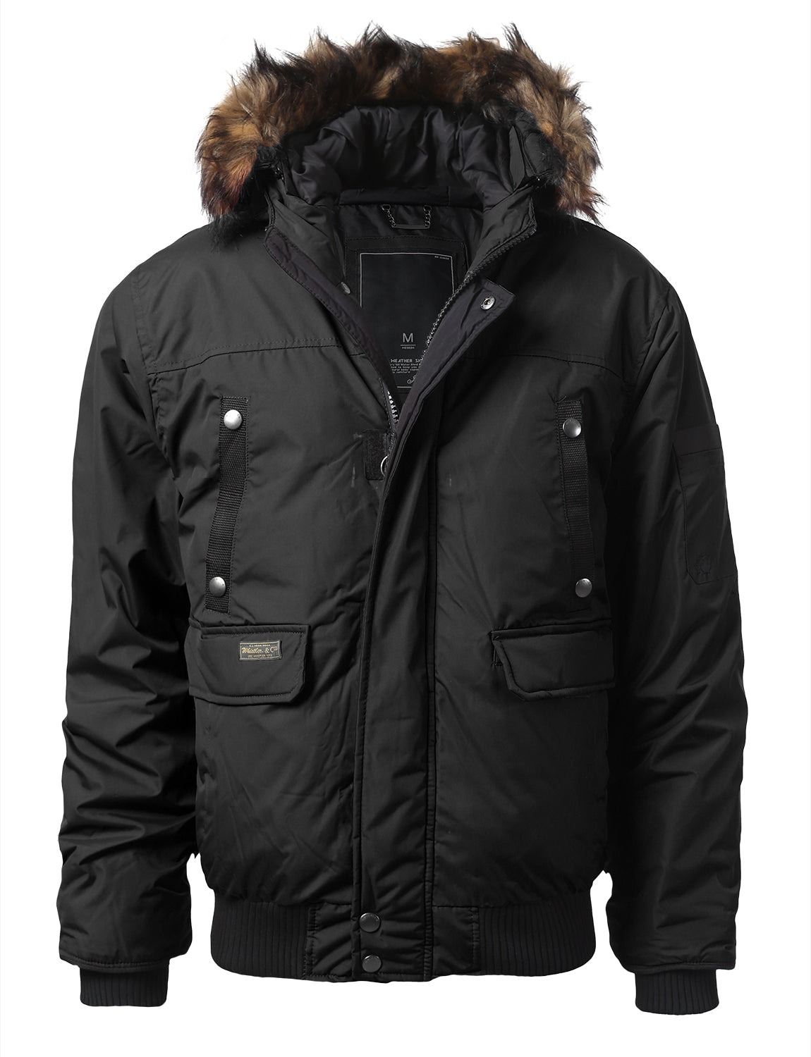 BLACK Appalachian Puffer Jacket w/ Faux Fur Hood - URBANCREWS
