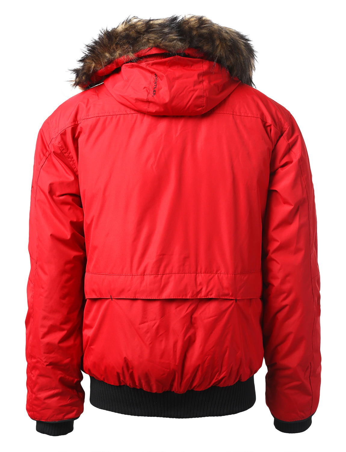 RED Appalachian Puffer Jacket w/ Faux Fur Hood - URBANCREWS