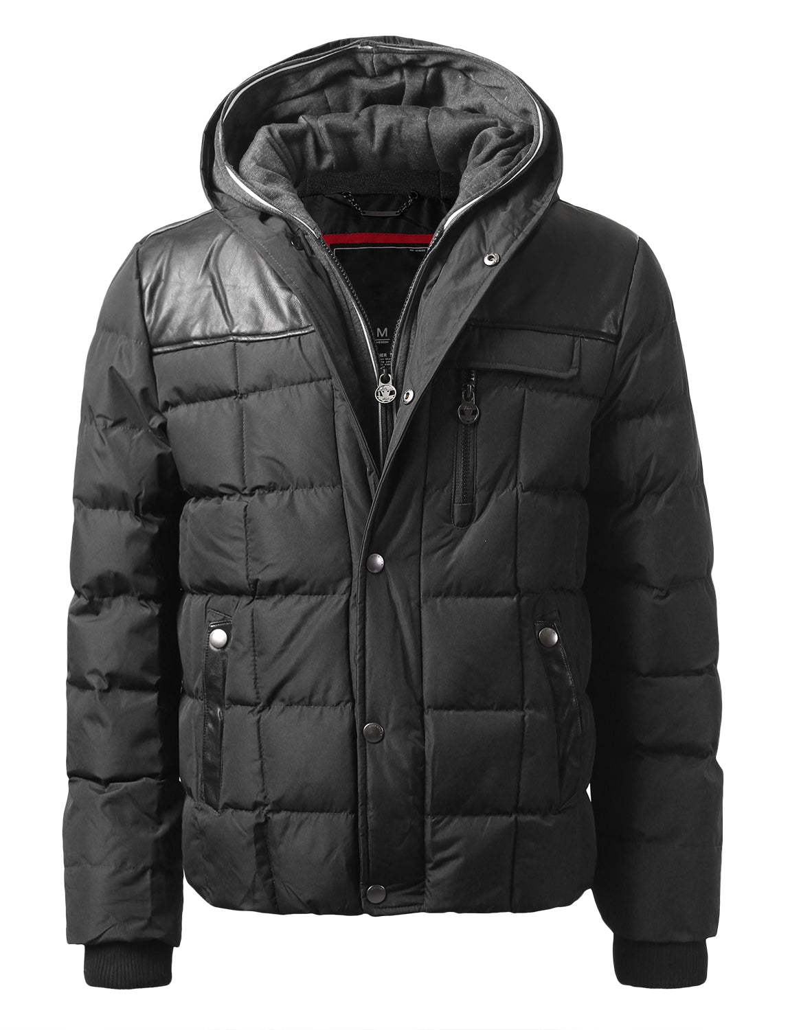 BLACK Motts Square Quilted Puffer Jacket - URBANCREWS