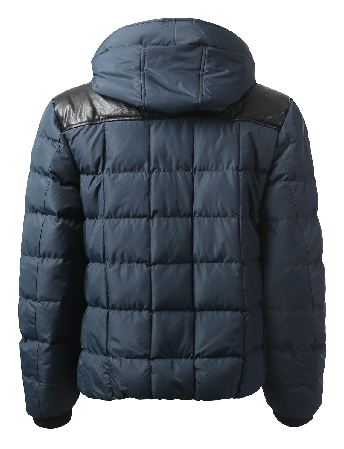 NAVY Motts Square Quilted Puffer Jacket - URBANCREWS