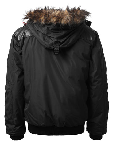 Timber Top Puffer Jacket w/ Faux Fur Hood