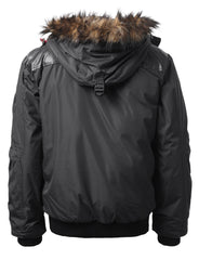 CHARCOALGRAY Timber Top Puffer Jacket w/ Faux Fur Hood - URBANCREWS