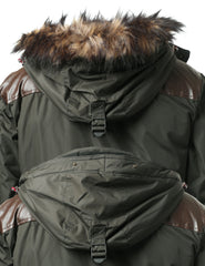 DKOLIVE Timber Top Puffer Jacket w/ Faux Fur Hood - URBANCREWS