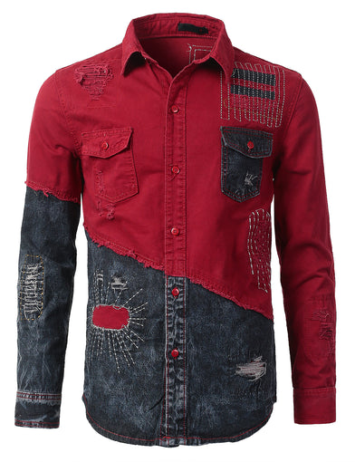 Anarchy Woven Denim Button-Up Shirt