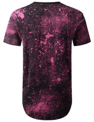 FUCHSIA OH YES Splatter Print Graphic T-shirt - URBANCREWS