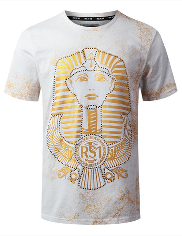 Egyptian Pharaoh Foil Print Graphic T-shirt