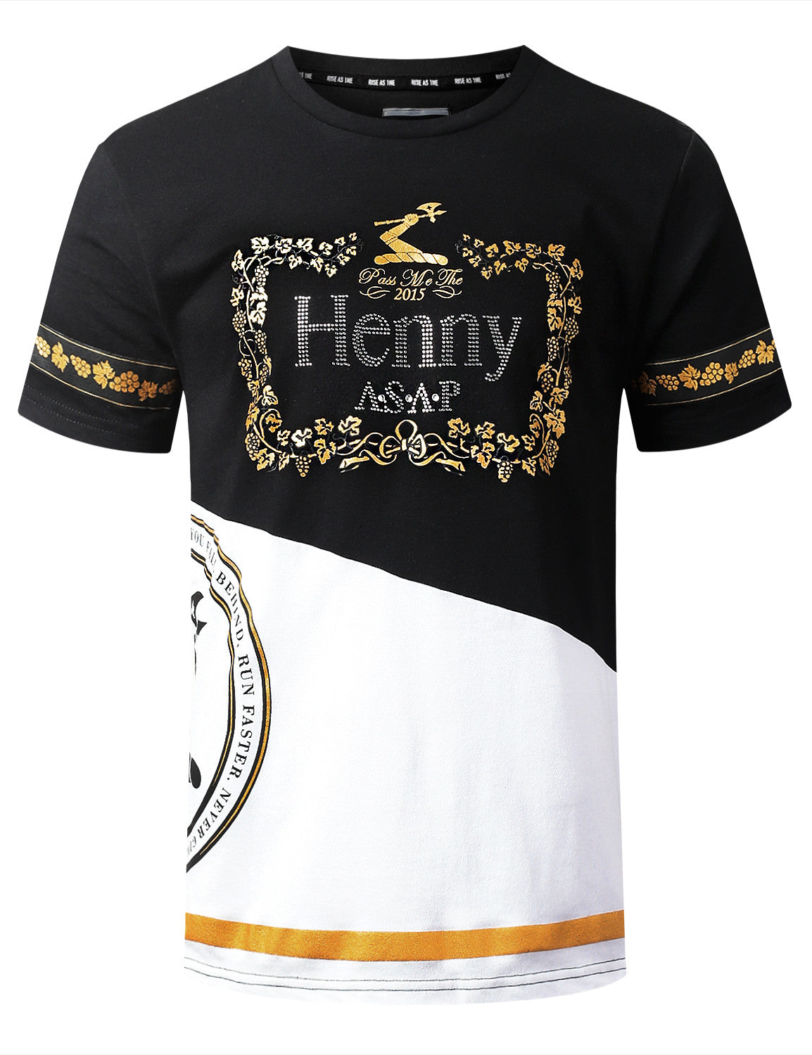 BLACK HENNY Cut & Sewn Graphic T-shirt - URBANCREWS
