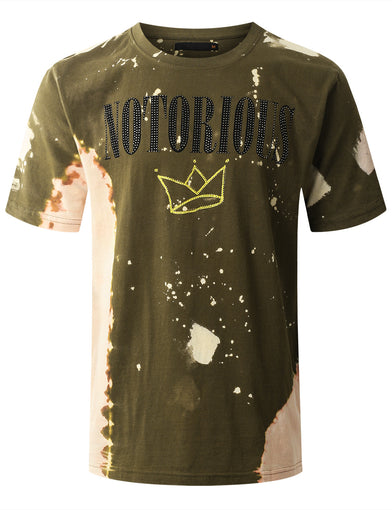 """NOTORIOUS"" Bleach Splattered T-shirt"