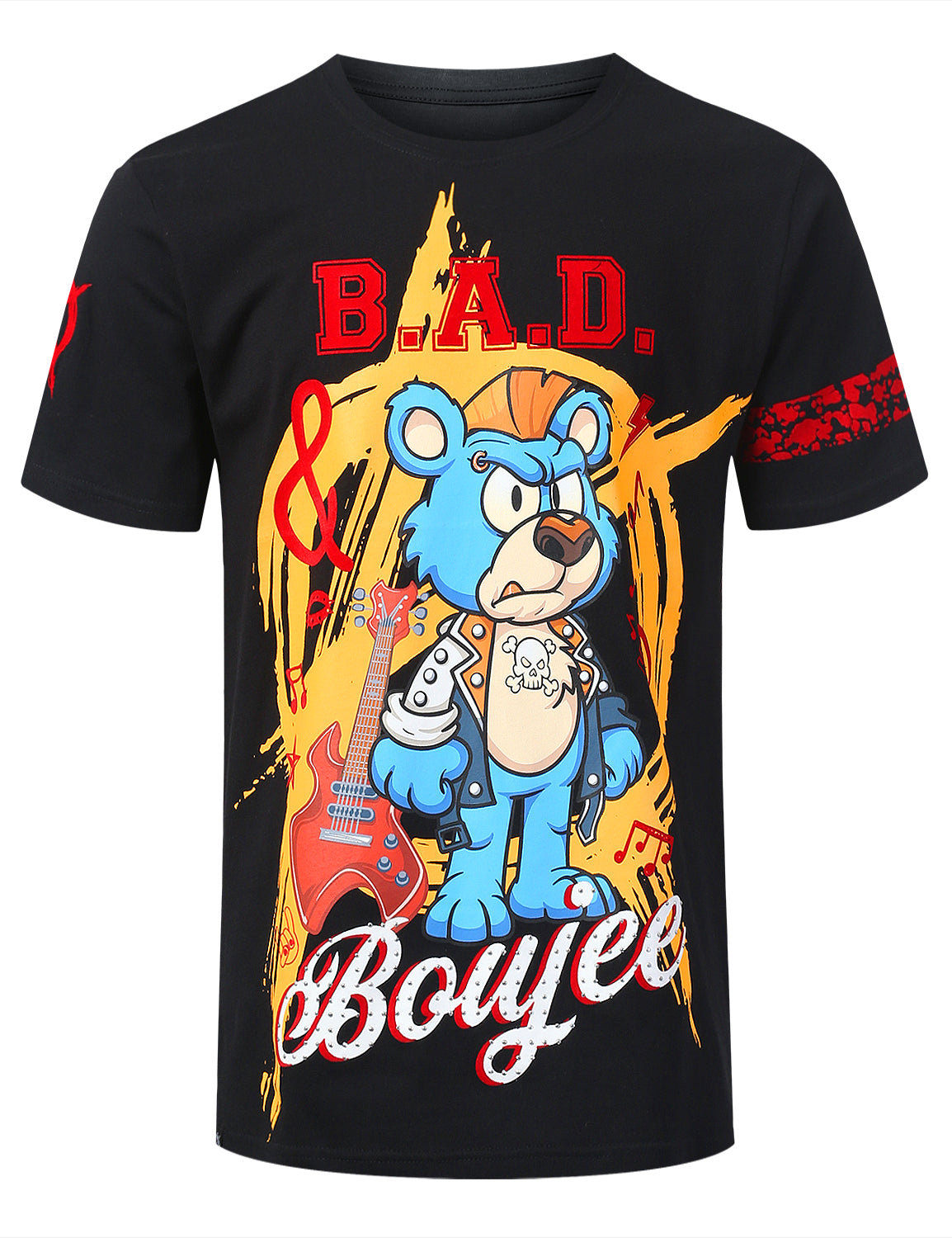 BLACK B.A.D. Bear Graphic T-shirt - URBANCREWS