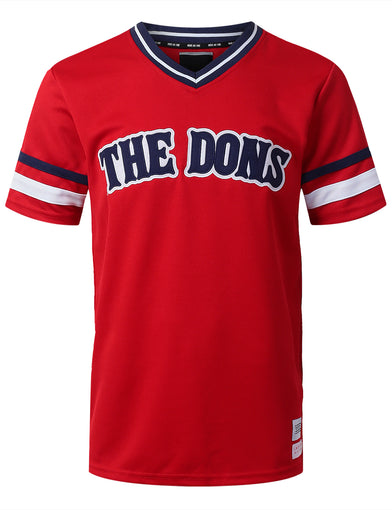 """THE DONS"" 5 Graphic V-Neck Jersey T-shirt"