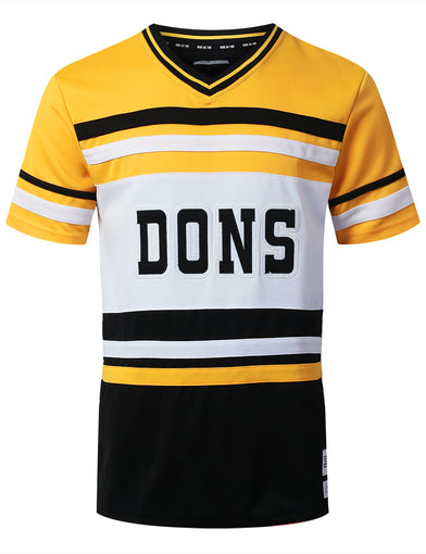 """DONS"" 49 Graphic V-Neck Jersey T-shirt"