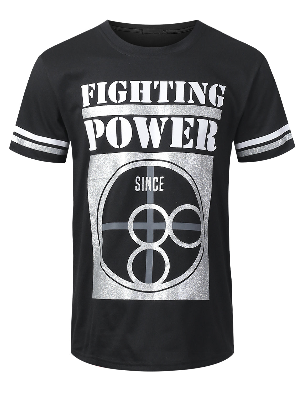 BLACK FIGHTING POWER Graphic T-shirt - URBANCREWS