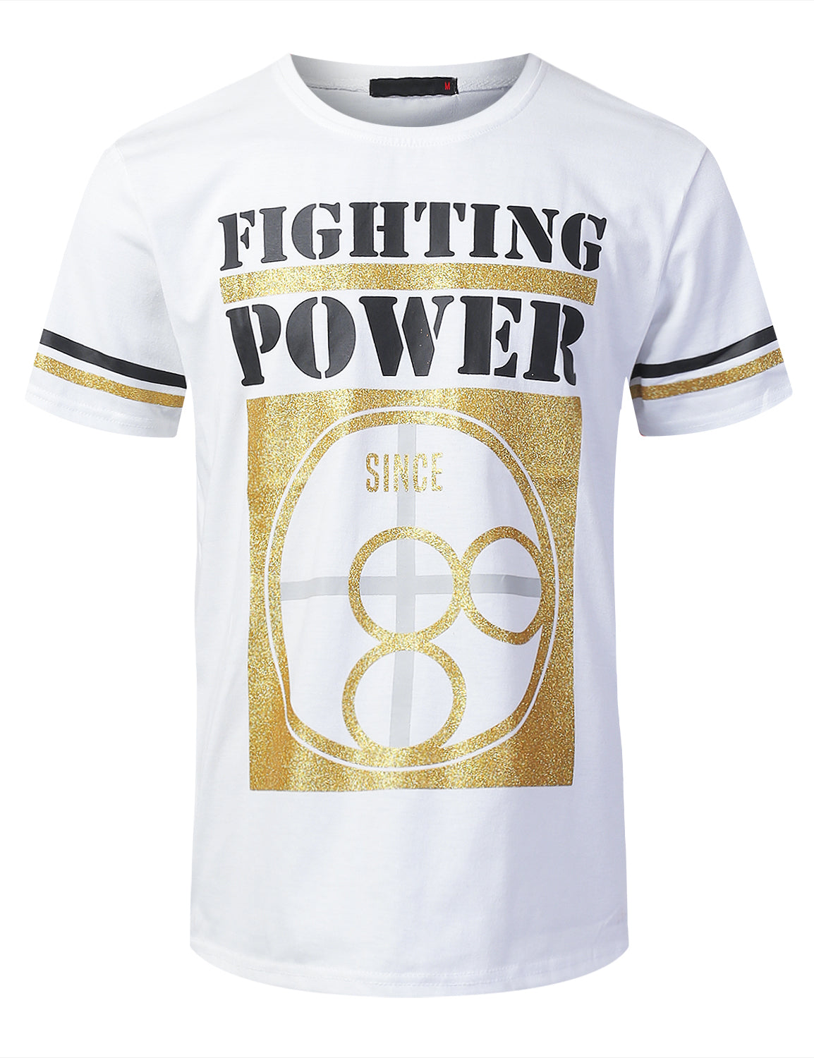 WHITE FIGHTING POWER Graphic T-shirt - URBANCREWS