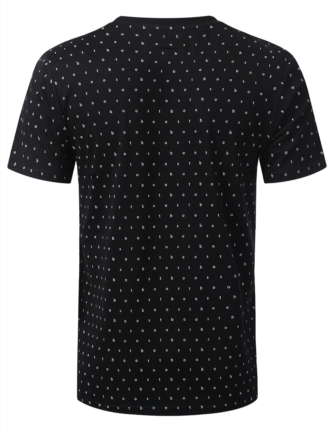 BLACK BOOST LIFE Pattern Print Graphic T-shirt - URBANCREWS