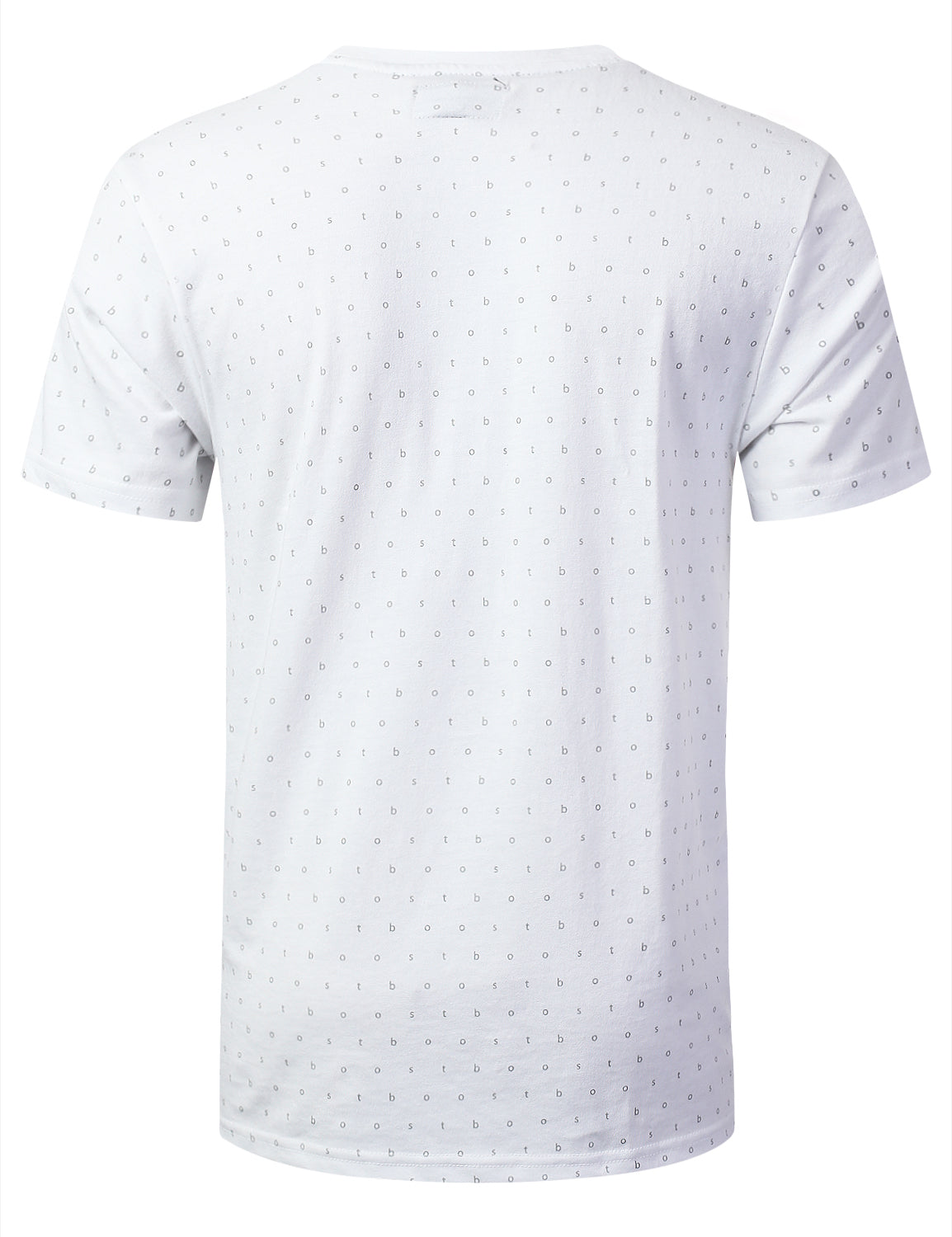 WHITE BOOST LIFE Pattern Print Graphic T-shirt - URBANCREWS