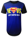 BLACK JESUS Faded Graphic T-shirt - URBANCREWS