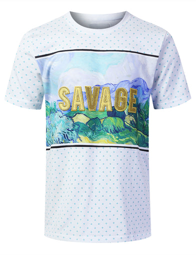 Masterpiece Print Short Sleeve T-shirt