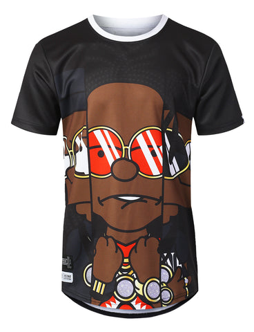 Young Rich Print Jersey T-shirt