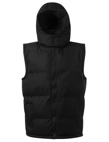 Fleece Lined Puffer Vest w/ Hood