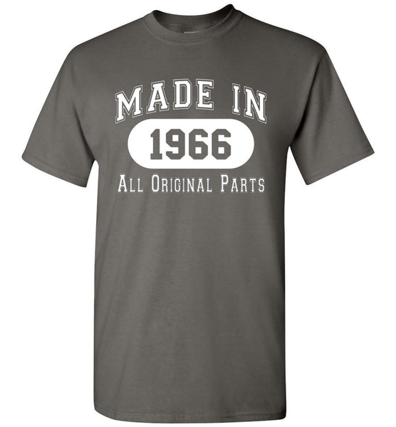 50th Birthday Gift Made in 1966 All Original Parts T-Shirt - white ink - What Are These? - 3