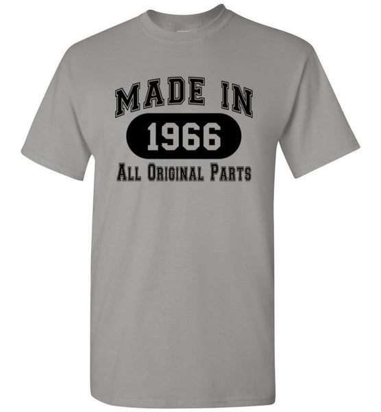 52nd Birthday Gift Made in 1966 All Original Parts Shirt
