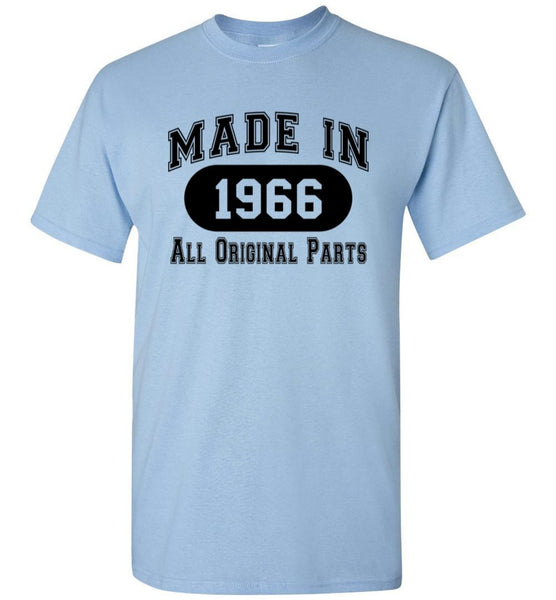 50th Birthday Gift Made in 1966 All Original Parts T-Shirt - white ink - What Are These? - 15