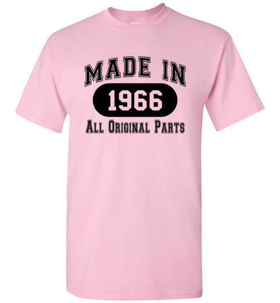 50th Birthday Gift Made in 1966 All Original Parts T-Shirt - white ink - What Are These? - 16