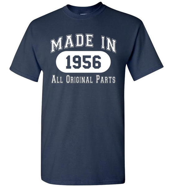 61st Birthday Gift Made in 1956 All Original Parts T-Shirt - What Are These? - 3